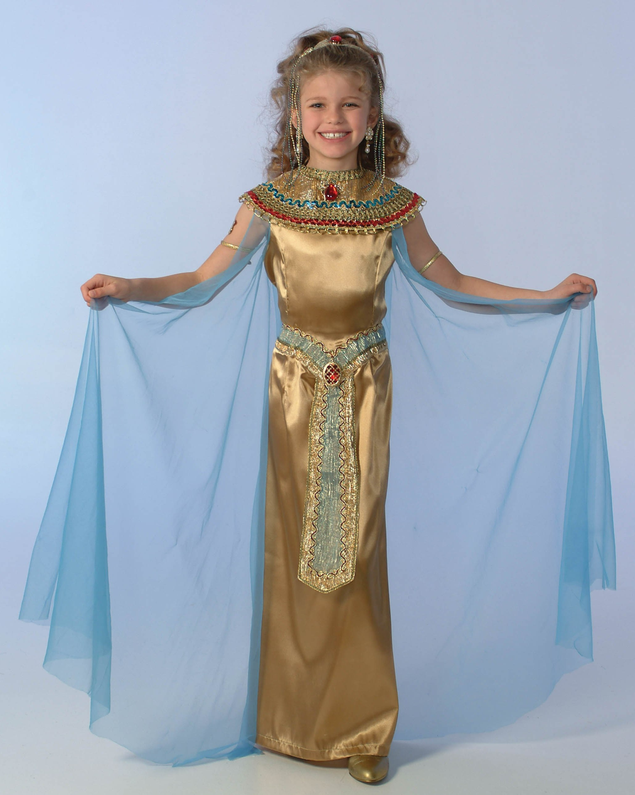 Child Cleopatra Costume  sc 1 st  Costumes of Nashua LLC & Cleopatra CostumeCaesarTogaEgyptian CostumePharaohNefertari ...