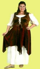 Tavern Lady Wench Costume  sc 1 st  Costumes of Nashua & Medieval CostumesRenaissance CostumesQueenPrincessMedieval Plus ...