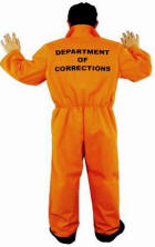 Dept of Corrections Prison Jumpsuit Costume