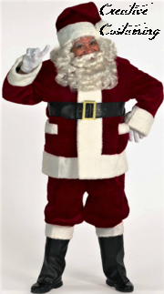Deluxe Burgundy Santa Suit with Outside Pockets & Santa SuitSanta ClothingChristmas CostumesSanta Claus SuitMrs ...
