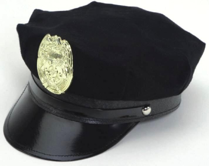 Police Hat with Badge - Cotton : keystone cop costume  - Germanpascual.Com