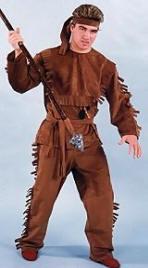 Davy Crockett Costume or Indian Brave  sc 1 st  Costumes of Nashua LLC & Saloon Girl CostumesCowboy CostumeCowgirlRiverboat Gambler ...