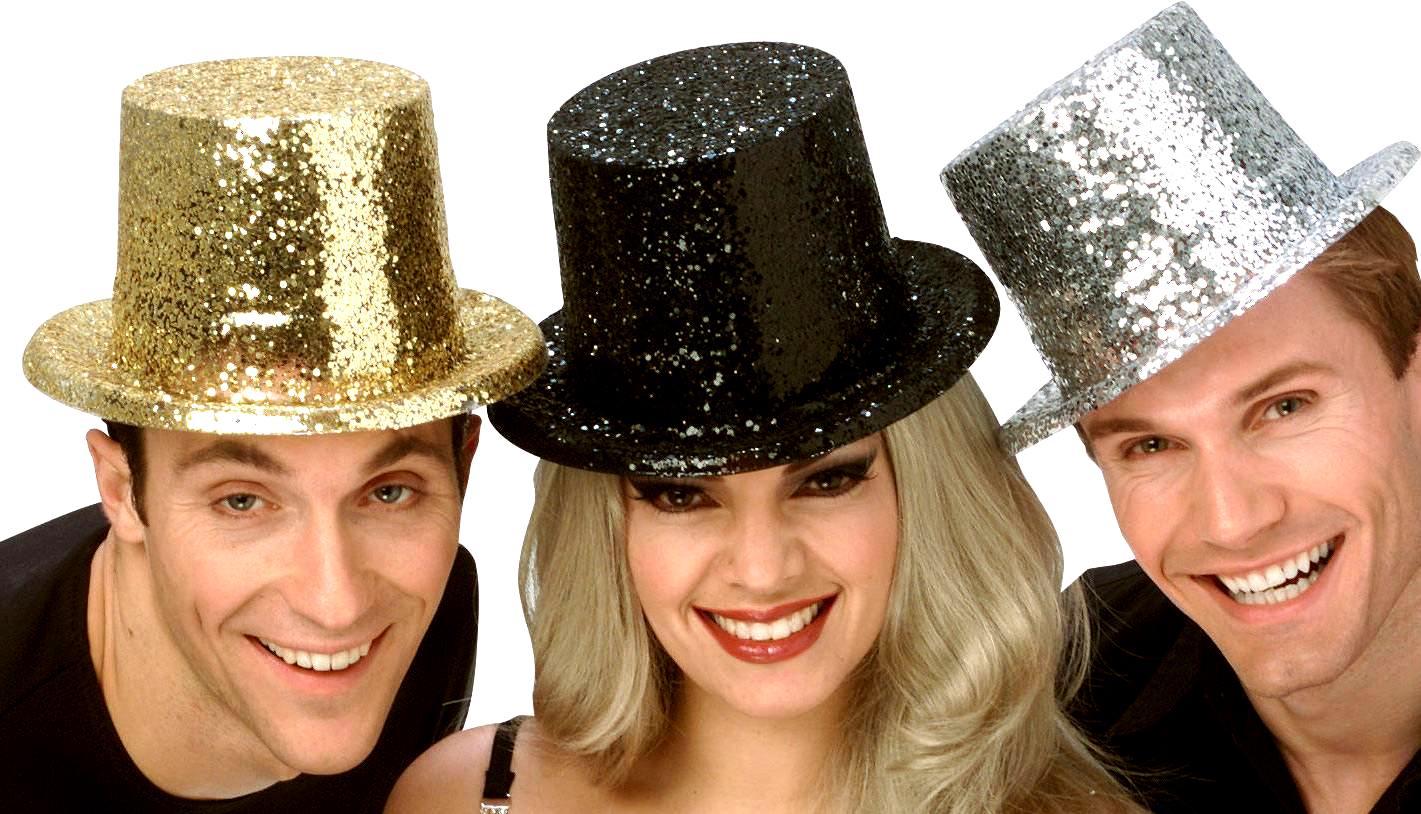 1b3104b5139f2 Deluxe Glitter Top Hat